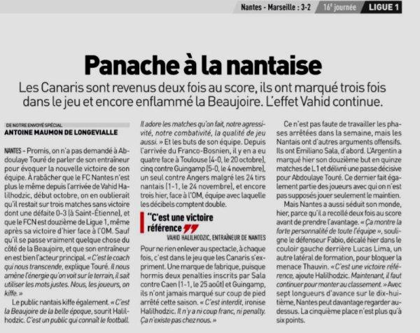 2018 Ligue 1 J16 NANTES MARSEILLE 3-2 , le 05/12/2018