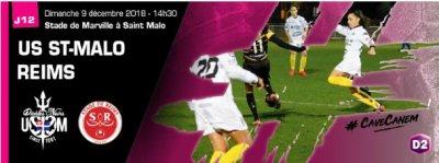2018 D2 Féminines J12 SAINT MALO REIMS 1-1, le 09/12/2018