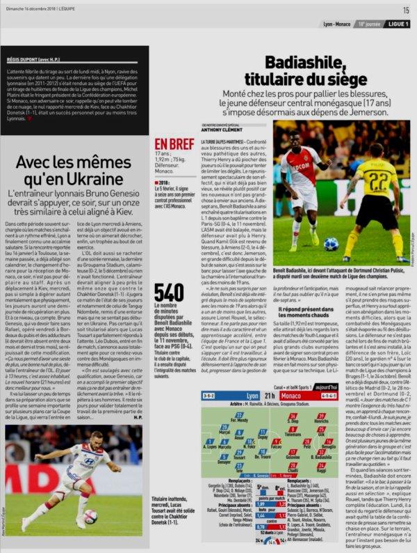 2018 Ligue 1 J18 LYON MONACO 3-0, le 16/12/2018