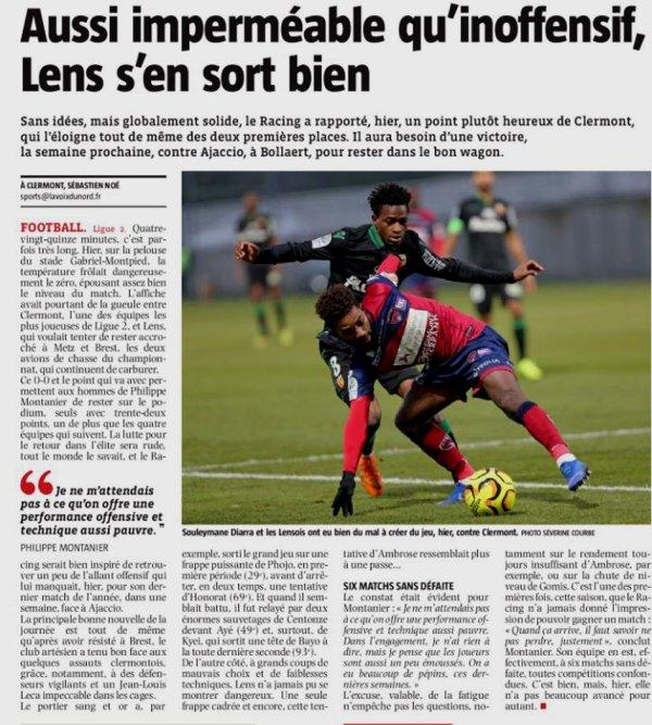 2018 Ligue 2 J18 CLERMONT LENS 0-0, le 15/12/2018