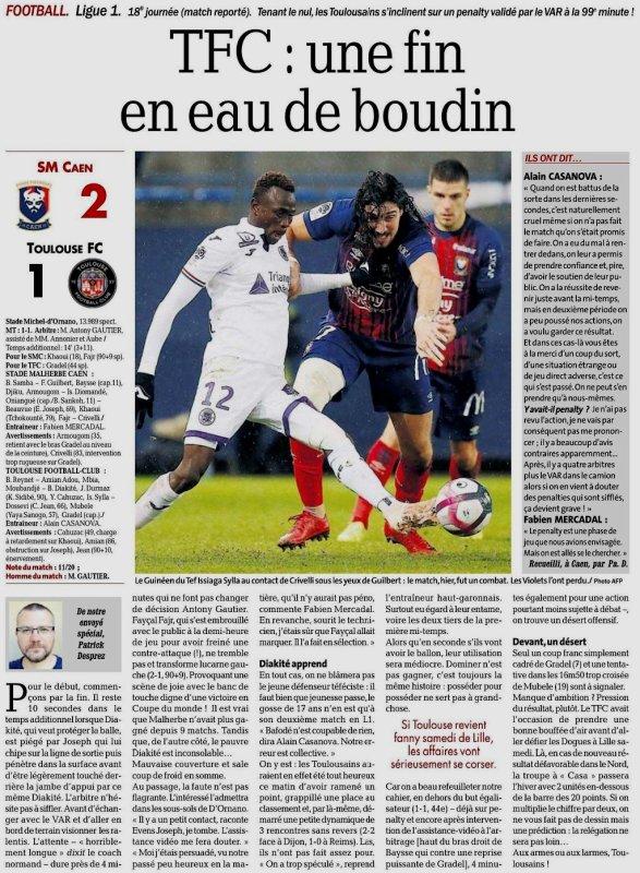 2018 Ligue 1 J18 CAEN TOULOUSE 2-1 , le 18/12/2018