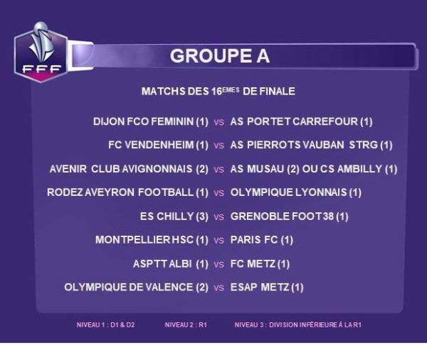 2018 Féminines CDF 16ème finale  :  SOYAUX au RENDEZ-VOUS, le 19/12/2018