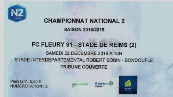 2018 NATIONAL 2 J15 FLEURY 91 REIMS 1-2, le 22/12/2018