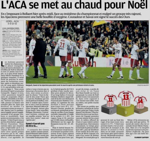2018 Ligue 2 J19 LENS AJACCIO 1-2, le 22/12/2018
