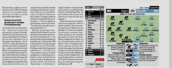 2018 Ligue 1 J19 ANGERS MARSEILLE 1-1, le 22/12/2018
