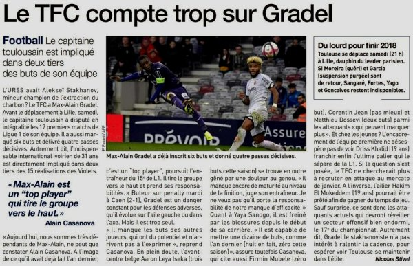 2018 Ligue 1 J19 LILLE TOULOUSE 1-2, le 22/12/2018