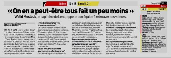 2018 CDF32 REIMS LENS , l'avant match, le 06/01/2019