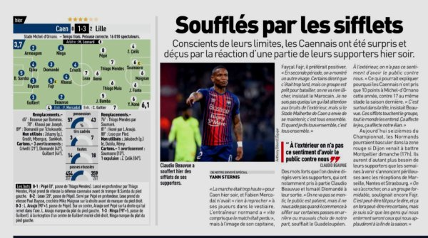 2018 Ligue 1 J20 CAEN LILLE 1-3, le 11/01/2019