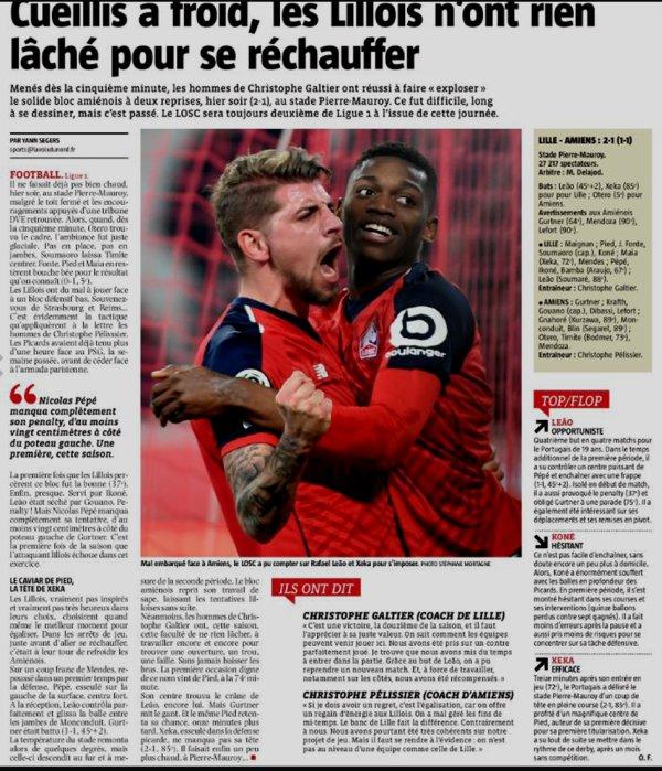 2018 Ligue 1 J21 LILLE AMIENS 2-1, le 18/01/2019