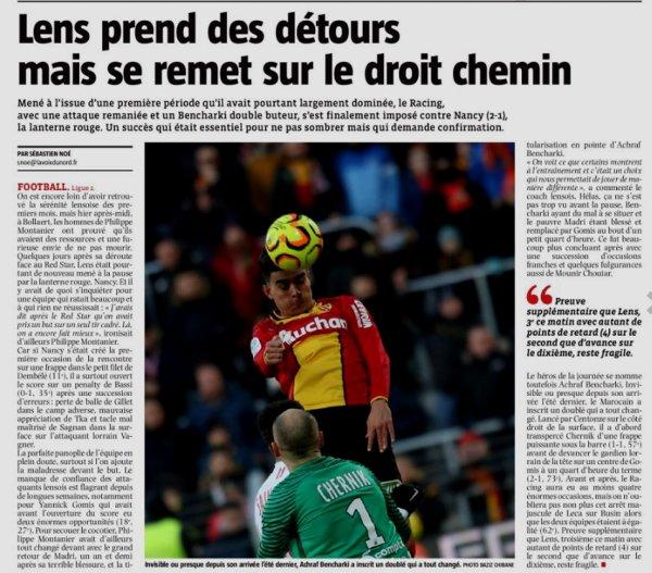 2018 Ligue 2 J21 LENS NANCY 2-1, le 19/01/2019
