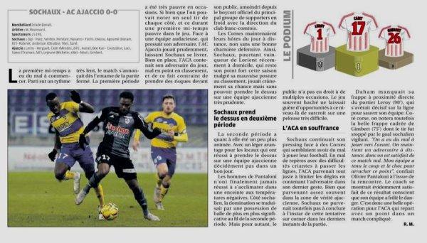 2018 Ligue 2 J21 SOCHAUX AJACCIO 0-0, le 18/01/2019