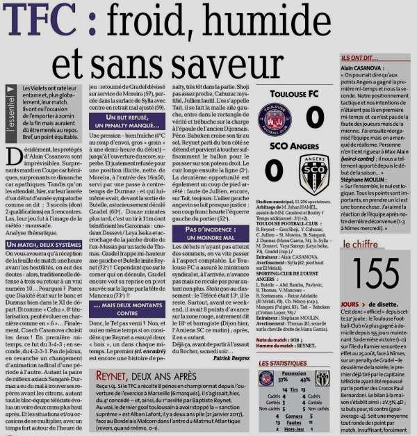 2018 Ligue 2 J22 TOULOUSE CAEN 0-0, le 27/01/2019
