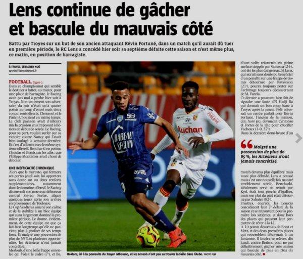 2018 Ligue 2 J22 TROYES LENS 1-0, le 28/01/2019
