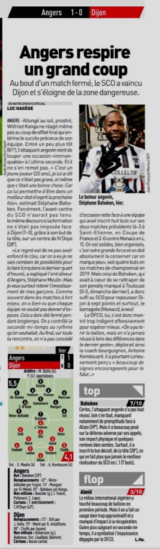 2018 Ligue 1 J23 ANGERS DIJON 1-0, le 02/02/2019