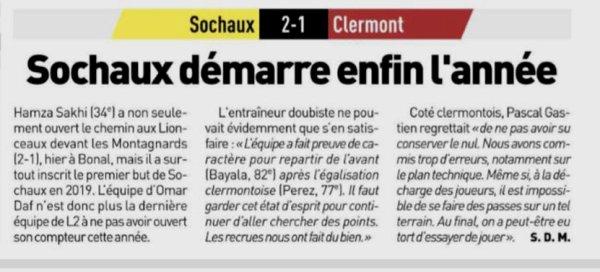 2018 Ligue 2 J23 SOCHAUX CLERMONT 2-1, le 01/02/2019