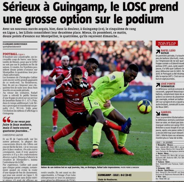 2018 Ligue 1 J24 GUINGAMP LILLE 0-2, le 10/02/2019