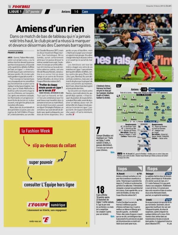 2018 Ligue 1 J24 AMIENS CAEN 1-0, le 09/02/2019