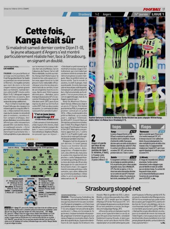 2018 Ligue 1 J24 STRASBOURG ANGERS 1-2, le 09/02/2019