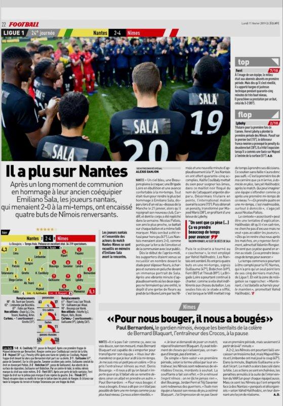 2018 Ligue 1 J24 NANTES NÎMES 2-4, le 10/02/2019