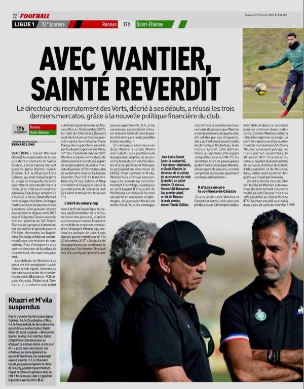 2018 Ligue 1 J24 RENNES SAINT-ETIENNE 3-0, le 10/02/2019