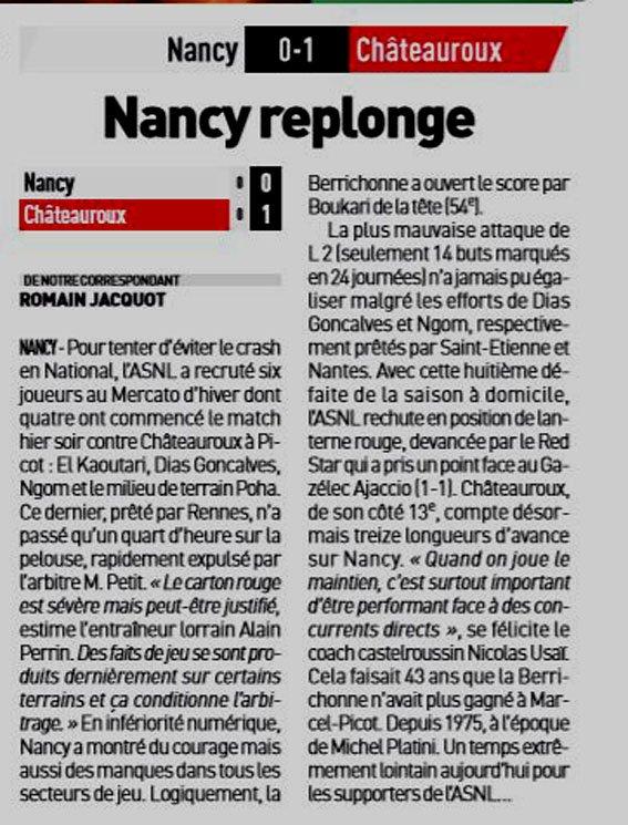 2018 Ligue 2 J24 NANCY CHÂTEAUROUX 0-1, le 08/02/2019
