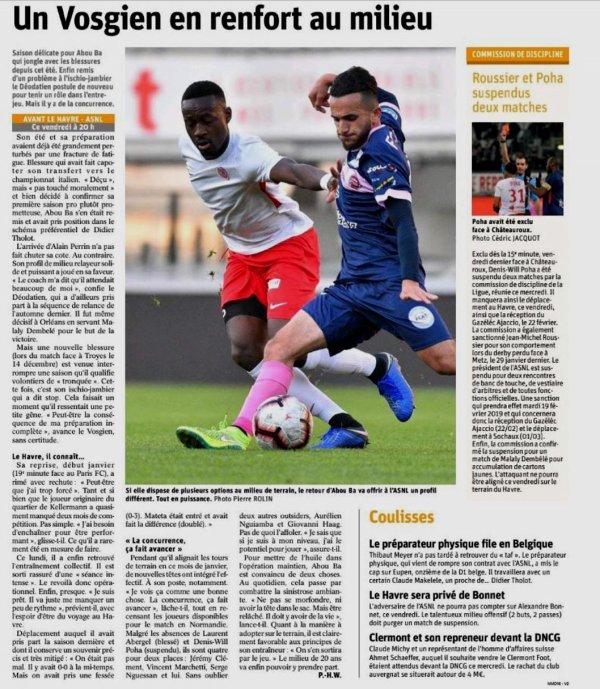 2018 Ligue 2 J25 LE HAVRE NANCY 0-2, le 15/02/2019