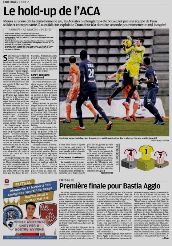 2018 Ligue 2 J25 PARIS FC AJACCIO 1-1 , le 15/02/2019