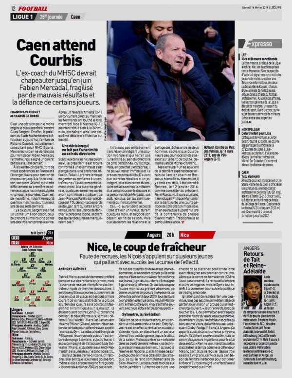 2018 Ligue 1 J25 ANGERS NICE 3-0, le 16/02/2019