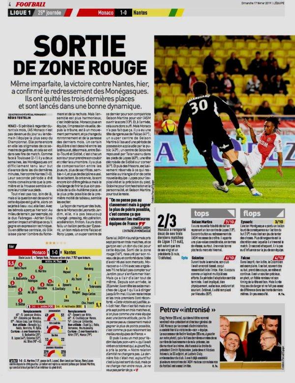 2018 Ligue 1 J25 MONACO NANTES 1-0, le 16/02/2019