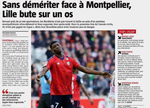 2018 Ligue 1 J25 LILLE MONTPELLIER 0-0, le 17/02/2019