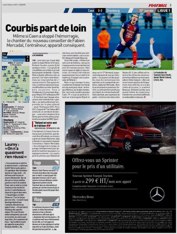 2018 Ligue 1 J25 CAEN STRASBOURG 0-0, le 17/02/2019