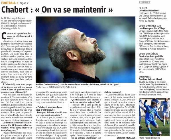 2018 Ligue 2 J25 METZ BEZIERS 1-0, le 18/02/2019