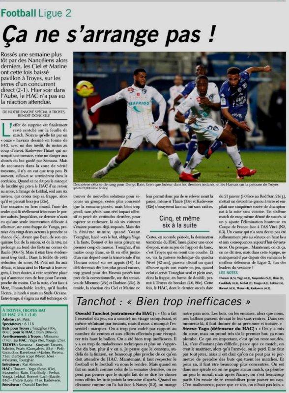 2018 Ligue 2 J26 TROYES LE HAVRE 2-1 , le 22/02/2019