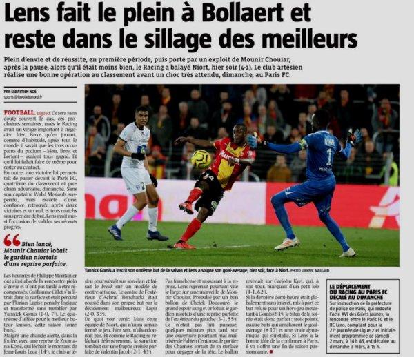 2018 Ligue 2 J26 LENS NIORT 4-1, le 25/02/2019