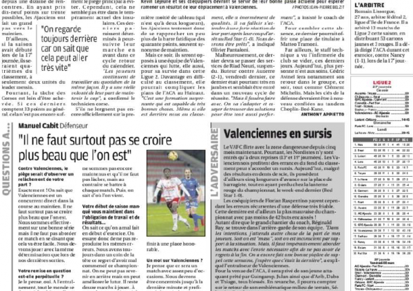 2018 Ligue 2 J27 VALENCIENNES AJACCIO 4-0 , le 01/03/2019