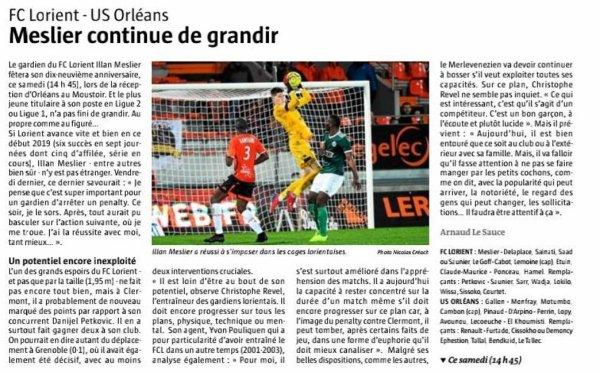 2018 Ligue 2 J27 LORIENT ORLEANS 1-3, le 02/03/2019