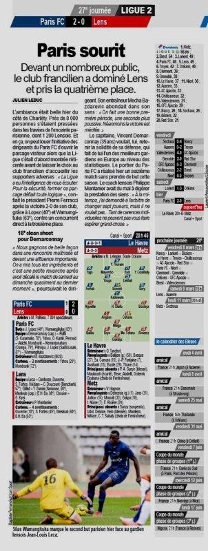 2018 Ligue 2 J27 PARIS FC LENS 2-0, le 03/03/2019