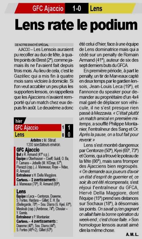 2018 Ligue 2 J29 GAZELEC LENS 1-0, le 18/03/2019