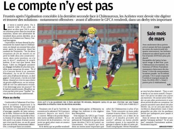 2018 Ligue 2 J30 AJACCIO CHÂTEAUROUX 1-1, le 29/03/2019