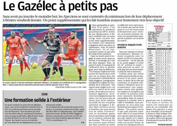 2018 Ligue 2 J30 BEZIERS GAZELEC 0-0, le 29/03/2019