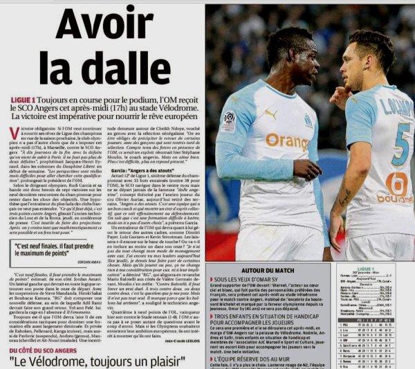 2018 Ligue 1 J30 MARSEILLE ANGERS 2-2, le 30/03/2019