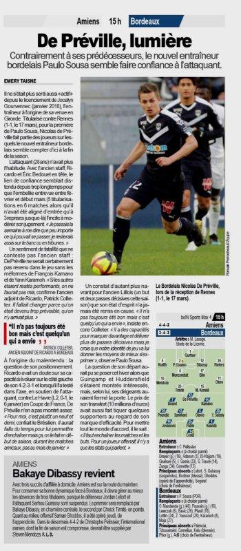2018 Ligue 1 J30 AMIENS BORDEAUX 0-0, le 31/03/2019