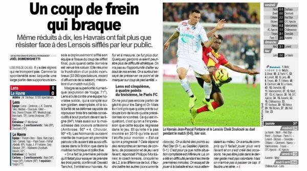 2018 Ligue 2 J30 LENS LE HAVRE 0-0, le 01/04/2019