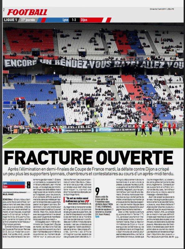 2018 Ligue 1 J31 LYON DIJON 1-3, le 06/04/2019