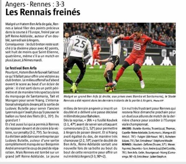2018 Ligue 1 J31 ANGERS RENNES 3-3, le 06/04/2019