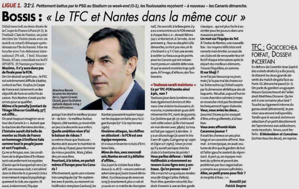 2018 Ligue 1 J31 TOULOUSE NANTES 1-0, le 07/04/2019