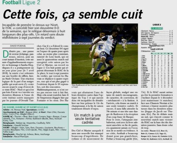 2018 Ligue 2 J31 LE HAVRE NIORT 0-0, le 05/04/2019