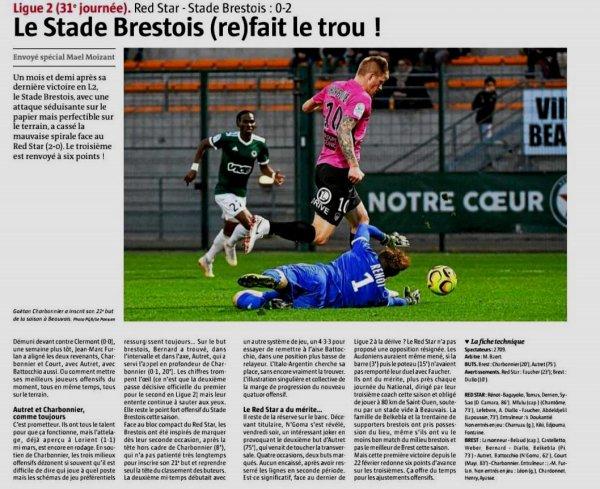 2018 Ligue 2 J31 RED STAR BREST 0-2, le 05/04/2019