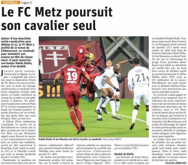 2018 Ligue 2 J32 METZ CHÂTEAUROUX 2-1, le 12/04/2019