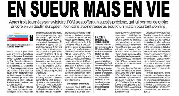 2018 Ligue 1 J32 MARSEILLE NÎMES 2-1, le 13/04/2019